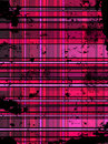 Fundo cor-de-rosa Checkered de Grunge. Imagem de Stock Royalty Free