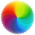 Fundo da roda de cor Foto de Stock