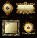 Fundo decorativo do frame do ouro do vintage do encanto Foto de Stock Royalty Free