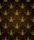 Fundo decorativo do teste padrão Imagens de Stock Royalty Free