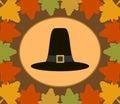 Fundo do dia de autumn thanksgiving com peregrino h Imagens de Stock