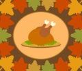 Fundo do dia de autumn thanksgiving com a turquia cozinhada Imagem de Stock Royalty Free