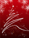 Fundo do feriado com árvore do xmas Imagens de Stock Royalty Free