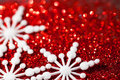 Fundo do Natal com flocos de neve Imagem de Stock Royalty Free