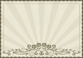 Fundo do vintage com ornamento floral Foto de Stock