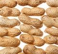 Fundo dos amendoins Fotografia de Stock