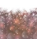 Fundo feito nos flocos de neve espaço do ano novo da cópia para seu texto Fotografia de Stock