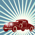 Fundo retro do carro do vintage Foto de Stock Royalty Free