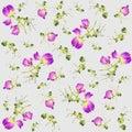 Fundo sem emenda de um ornamento das flores, fashi Imagem de Stock