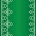 Fundo verde com ornamento do vintage Imagem de Stock Royalty Free