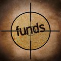 Funds target close up of Stock Images