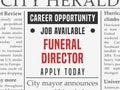Funeral director career