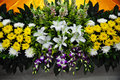 Funeral flowers for condolences Royalty Free Stock Photo