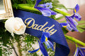 Funeral Ribbon Daddy Royalty Free Stock Photo