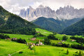 Funes valley, Italy Royalty Free Stock Photo