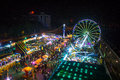 Funfair ariel view from giant wheel Stock Photo