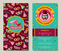 Funfair funny tickets design with pattern Royalty Free Stock Photo