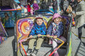 Funfair in halden Stockbild