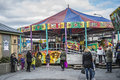 Funfair in halden Stockbilder