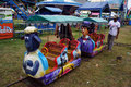 Funfair rides workers prepare for in the city of solo central java indonesia Royalty Free Stock Image
