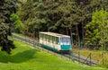 A funicular car in prague czech republic Royalty Free Stock Photo