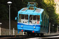 Funicular carriage on kiev hills Royalty Free Stock Images