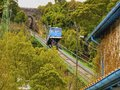 Funicular de la reineta near bilbao going up arboleda zugaztieta park recreational area in valle trapaga biscay basque Stock Photo