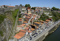 Funicular dos guindais in historic city porto in portugal view to Royalty Free Stock Photos