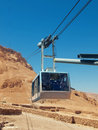 Funicular in fortress masada israel sunny day Royalty Free Stock Photos