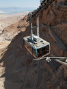 Funicular in fortress masada israel sunny day Stock Photography