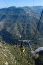 Funicular in montserrat mountain in catalonia spain Stock Photo