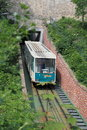 Funicular in prague descending from petrin hill to ujezd czech republic Stock Photo