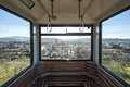 Funicular the railway down to the village of certaldo tuscany italy Stock Photos