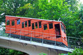 Funicular railway historic to the castle in heidelberg germany Royalty Free Stock Images
