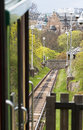 Funicular railway in the park skansen stockholm Stock Photo