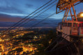 Funicular in san marino during spring evening Stock Images
