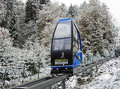 Funicular at the ski jump Muehlenkopfschanze in Willingen, Germany Royalty Free Stock Photo