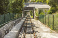 Funicular track at Viana do Castelo Stock Photos