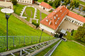 Funicular in vilnius to gediminas tower lithuania Royalty Free Stock Images