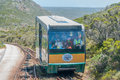 Funiculars at cape point about to pass each other town south africa december the up and down Royalty Free Stock Image