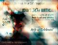 Funky abstract party invitation template birthday celebration flyer design Stock Photo