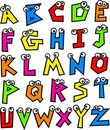 Funky Alphabet Stock Photos
