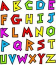 Funky alphabet Royalty Free Stock Photo