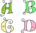 Funky alphabet, vector, EPS 8, illustration   Stock Images