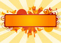 Funky Banner Royalty Free Stock Photo