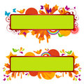 Funky Banners Royalty Free Stock Photo