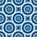 Funky Blue Circles Pattern Stock Images