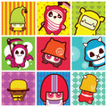 Funky cartoon icons Stock Images