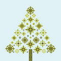 Funky Christmas tree snowflakes Royalty Free Stock Photo