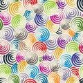 Funky circles retro style seamless pattern. Royalty Free Stock Photo